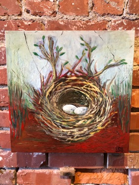 Nest on Red