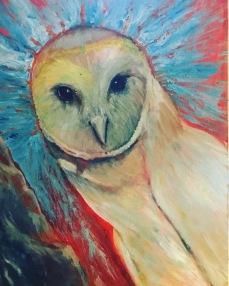 Owl on Orange